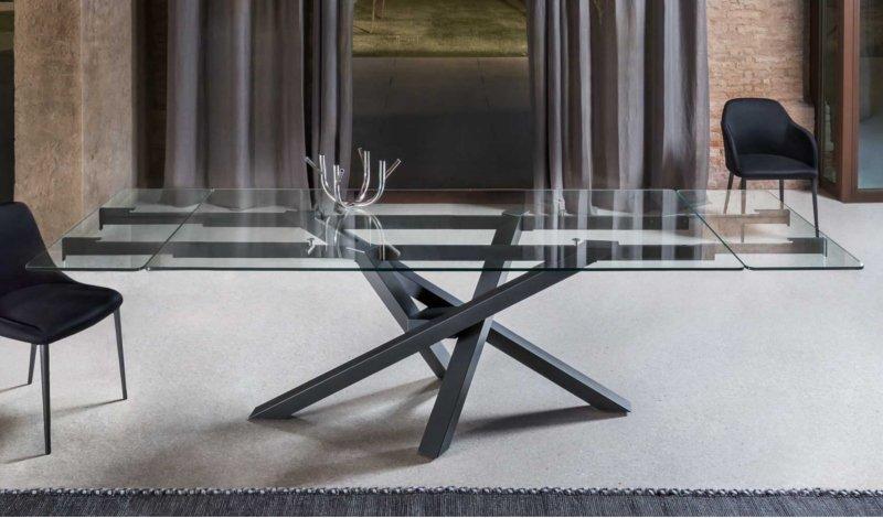 tavolo-allungabile-cristallo-shangai - VILLADISESTO