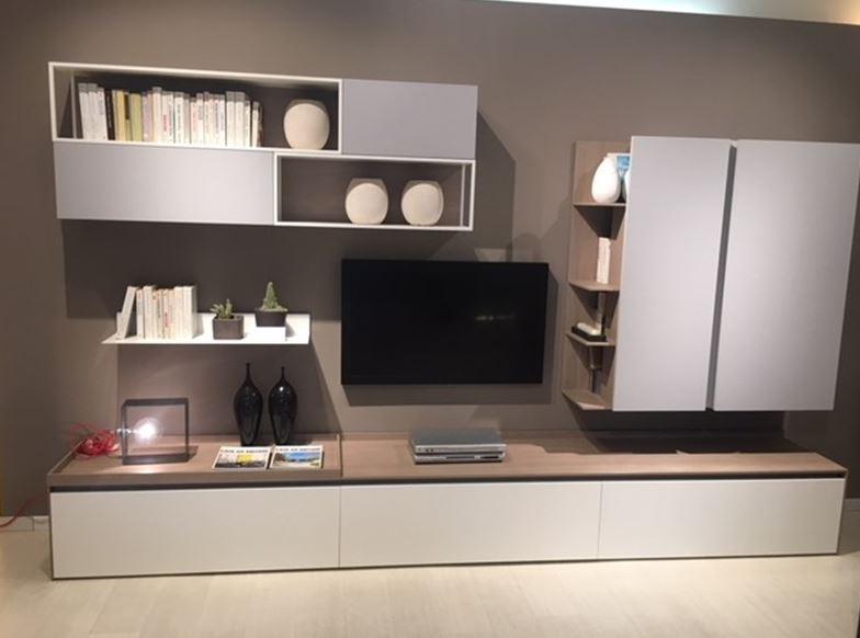 Mobile componibile in laccato opaco stile design living system box 18 di novamobili villadisesto - Novamobili living ...